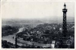 Lyon (Rhône) : La Tour Métallique et la Saône.