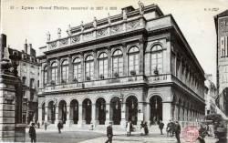 Lyon : Le Grand Théâtre, construit de 1827 à 1830.