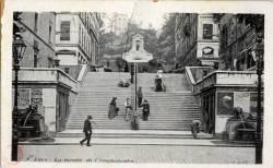 Lyon : La montée de l' Amphithéâtre.