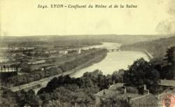 Lyon : Confluent du Rhône et de la Saône