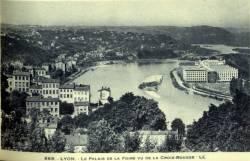 Lyon : Le Palais de la Foire vu de la Croix-Rousse