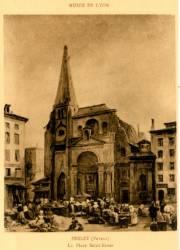Musée de Lyon : Perlet (Petrus); la place Saint Nizier