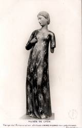 Musée de Lyon : Vierge de l'Annonciation, attribuée à Nino Pisano (bois polychromé).