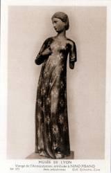 Musée de Lyon : Vierge de l' Annonciation, attribuée à Nino Pisano, (bois polychromé).