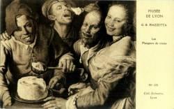 Musée de Lyon : G.B. Piazzetta ; Les Mangeurs de crème.