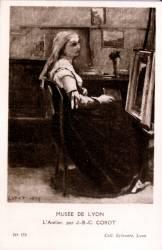 Musée de Lyon : L'Atelier, par J.-B.-C. Corot.