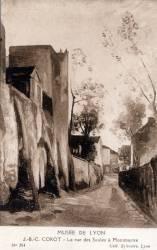 Musée de Lyon : J. B. C. Corot ; La rue des Saules à Montmartre
