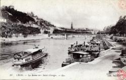 Lyon : La Saône vers Saint-Georges.