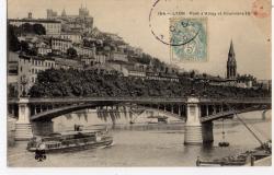 Lyon : Pont d'Ainay et Fourvière