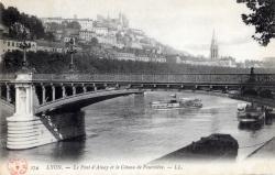 Lyon : Le Pont d'Ainay et le Côteau de Fourvière.