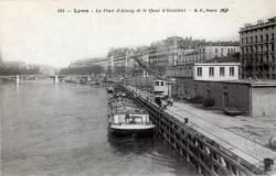 Lyon : Le Pont d'Ainay et le Quai d'Occident.