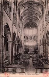Lyon. - Intérieur de l'Eglise Saint-Nizier