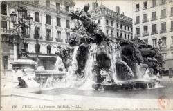 Lyon : La Fontaine Bartholdi.