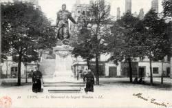 Lyon : Le Monument du Sergent Blandan.