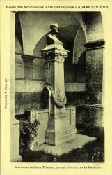 École des Sciences et Arts Industriels La Martinière : Monument de Henry Tabareau, premier Directeur de la Martinière.