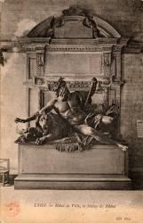 Lyon : Hôtel de ville ; la statue du Rhône
