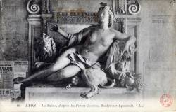 Lyon : La Saône ; d'après les Frères Coustou, Sculpteurs Lyonnais.
