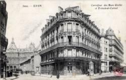 Lyon : Carrefour des Rues Grolée et Président Carnot