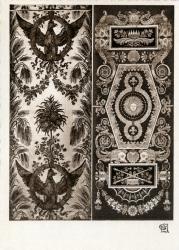 Chambre de Commerce de Lyon ; Musée Historique des Tissus - Palais du Commerce : Tenture pour le prince Murat, époque de Napoléon ; Tenture pour la salle du trône , époque de Louis XVIII.