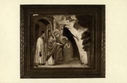 Musée des Hospices civils de Lyon : Collections des Primitifs ; La Communion de Sainte Madeleine (fin XIVe s.).