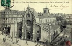 Lyon : Eglise Saint Bonaventure ; commencée en 1325 et achevé au XVe siècle.
