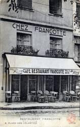 Lyon : Restaurant Francotte ; 8, Place des Célestins ; Lyon.