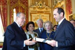 [Robert Kotcharian, président de la République d'Arménie, en visite officielle à Lyon]