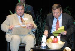 [Jean Glavany au congrès de la fédération nationale des producteurs de fruits à Irigny]