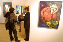 [Galerie WM, rue Vaubecour : exposition des oeuvres de Chantal Roux]