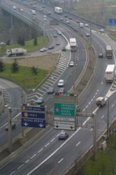 [Autoroute A7, entrée Sud de Lyon (vue aérienne)]