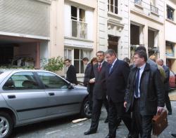[Drame de la rue Jubin : visite du ministre de l'Intérieur Daniel Vaillant]