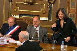 [Conseil municipal de Lyon : première séance présidée par Gérard Collomb, 25 mars 2001]