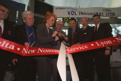 [Vol inaugural Lyon-New-York (Delta Air Lines)]