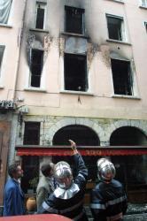 [Incendie d'un immeuble de la rue de l'Arbre-Sec, à Lyon]