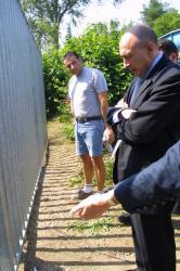 [Visite du maire de Lyon après une série d'incidents]
