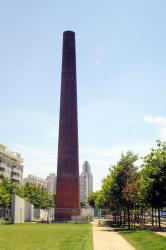 """[""""Vue de la cheminée"""", oeuvre de Felice Varini (2002)]"""