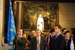 [Messe à la primatiale Saint-Jean de Lyon en présence de Louis de Bourbon]