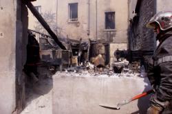 [Incendie dans un atelier de photogravure à Villeurbanne]