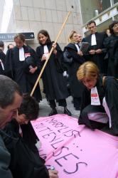 [Manifestation des avocats de la région Rhône-Alpes]