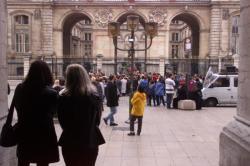 Manifestation C.G.T. devant l'hôtel de Ville