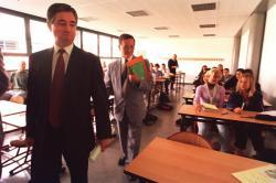 [Rentrée des classes au Lycée René-Descartes à Saint-Genis-Laval]