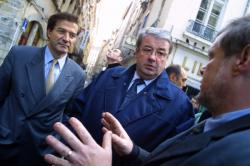 [Le ministre de l'intérieur Daniel Vaillant en déplacement à Lyon]