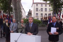 [56e anniversaire de la Libération de Lyon : cérémonie à Vaise]