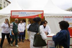 [Les chirurgiens-dentistes du Rhône en consultation place Antonin-Poncet]