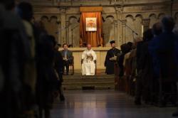 [Attentats du 11 septembre 2001 : recueillement des communautés religieuses à la Primatiale Saint-Jean]