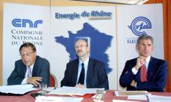 [Energie du Rhône : conférence de presse]