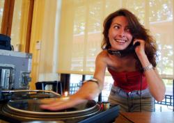 [DJ Sophie A. (Sophie Agier), au Seven à Gerland]