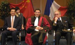 [Visite du vice-président chinois Hu Jintao à Lyon : réception à l'école centrale]