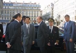 [Visite du vice-président chinois Hu Jintao à Lyon : réception à l'hôtel de ville]