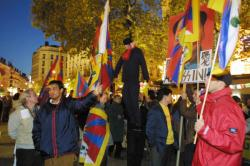 [Visite du vice-président chinois Hu Jintao à Lyon : manifestation des opposants]
